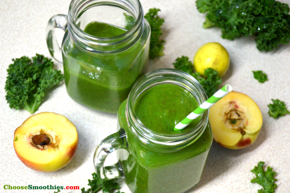 Guava Peach Green Smoothie Recipe
